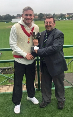 LIVERPOOL CC RECEIVE THE DIVISION 2 TROPHY THE JOHN ROTHERAM TROPHY