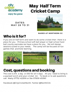 HALF TERM CRICKET CAMP